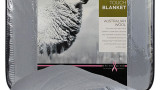 Cashmere Touch Wool Blanket Rolled-Dove Grey