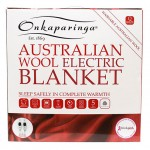 Australian Wool Electric Blanket packaged