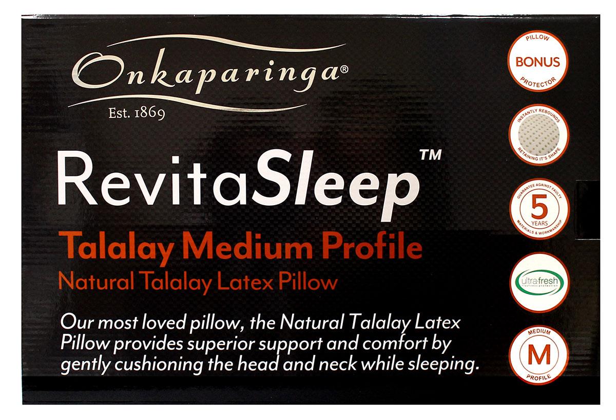Talalay Natural Pillows Our Revitasleep Collection