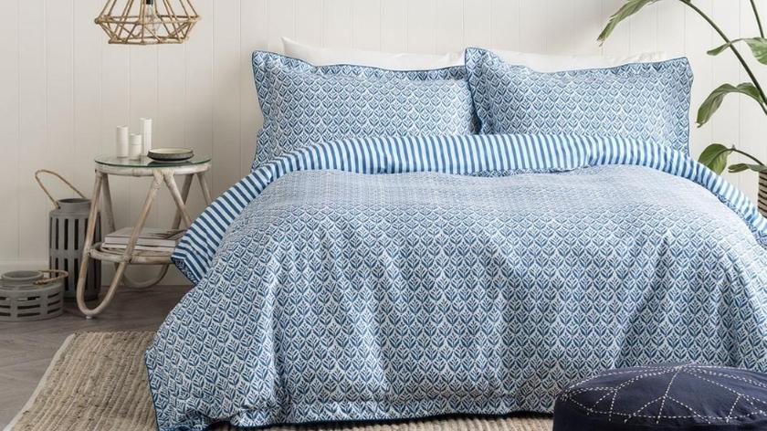 Onkaparinga quilt cover set blue