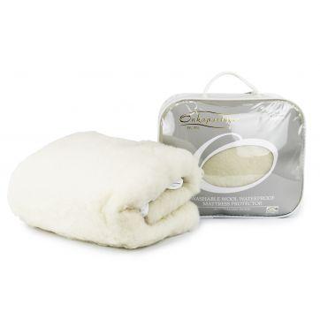 Australian Washable Wool Waterproof Mattress Protector Cot