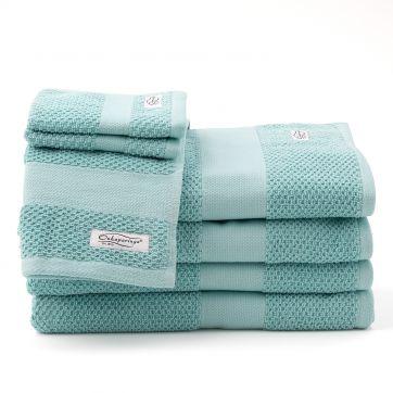 Rivet 7pc Bath Towel Set Aqua