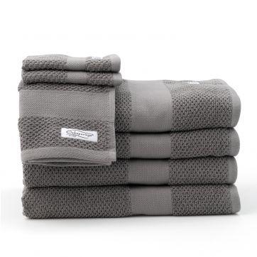 Rivet 7pc Bath Towel Set Graphite