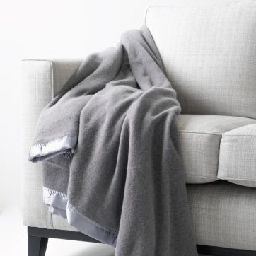 HEIRLOOM AUSTRALIAN WOOL BLANKET GREY