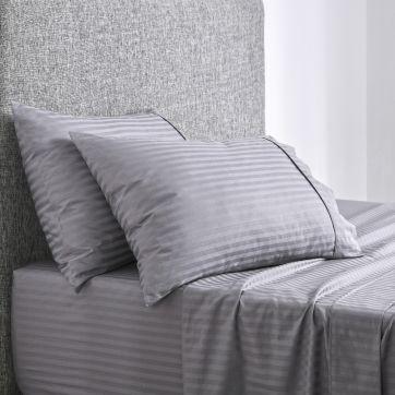 Chilton Stripe Sheet Set Silver
