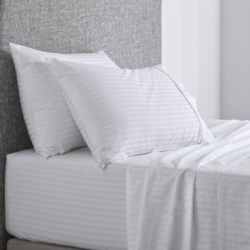 Chilton Stripe Sheet Set White
