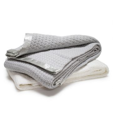 Moss Weave Cotton Blanket - Gift Boxed