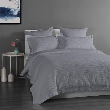 Yarra Quilt Cover Set - Grey