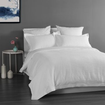 Yarra Quilt Cover Set - White