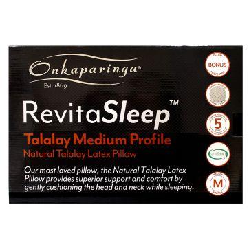 RevitaSleep Talalay Medium Profile Pillow